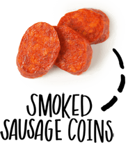 smoked sausage coins