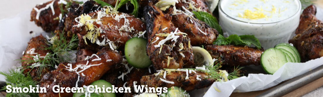 Smokin' Green Chicken Wings
