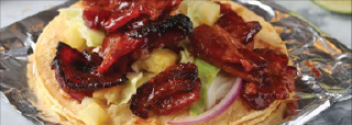 Bacon Burnt Ends Tacos