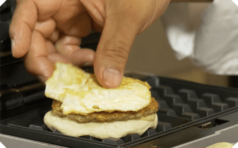 Chef Frank Talking Sausage Waffle Biscuits