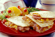 Ham and Corn Quesedillas