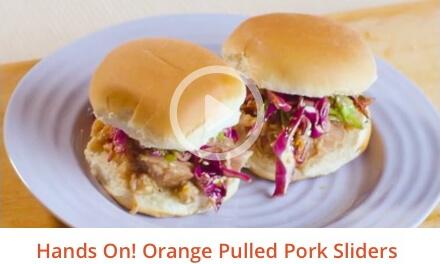 Orange Pulled Pork Sliders