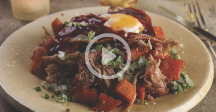 Pulled Pork and Sweet Potato Hash