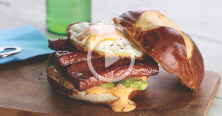 Smoked Sausage Breakfast Sandwich