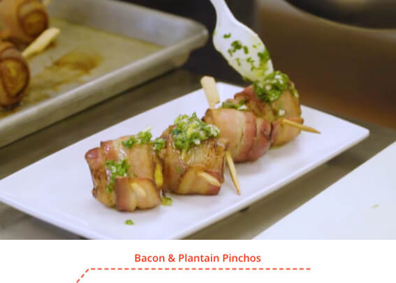 Bacon & Plantain Pinchos