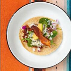Carnitas and Bacon Taco